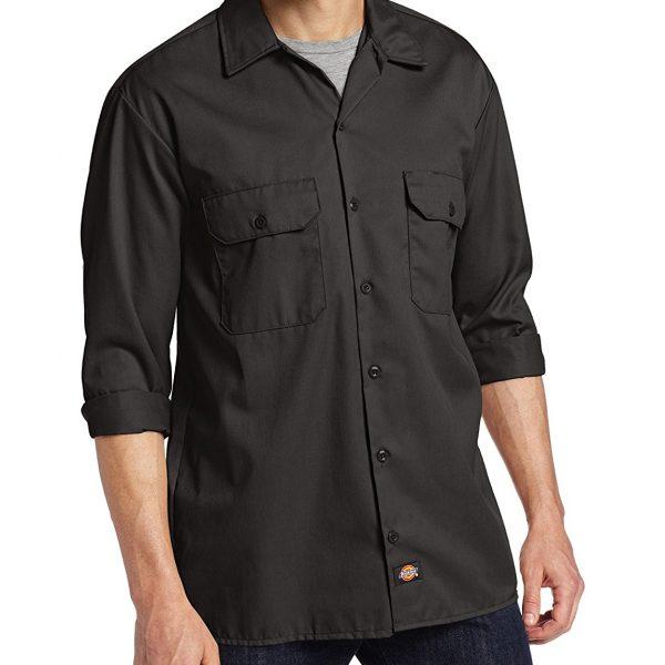 Dickies 574KH Camisa de Trabajo de Manga Larga para Hombre