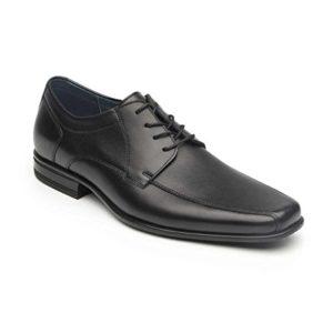 Flexi Zapato Negro con Agujeta Zapato para Hombre