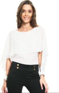 LOB blusa blanca manga larga