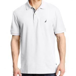 Nautica - Camisa polo,Short Sleeve Solid Deck Polo Shirt, Hombres
