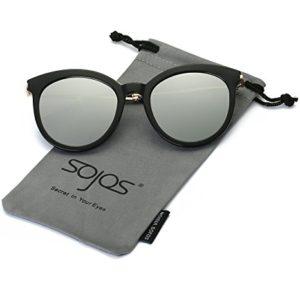 SojoS Gafas De Sol Mujer Protección UV Marco Redondo SJ2034