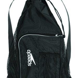 Speedo Deluxe Ventilator Mesh Equipment Bag, Black