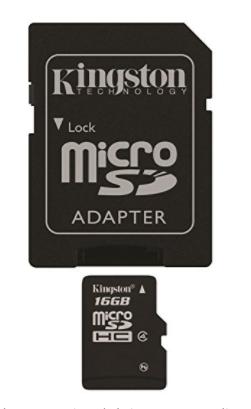 Kingston 16 GB Class 4 MicroSD Flash Card with SD Adapter SDC4 16GB
